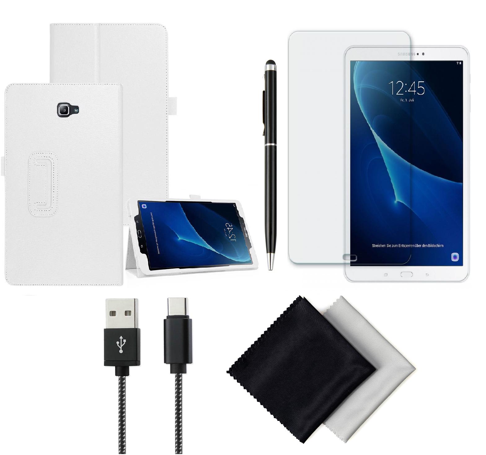 Pachet Accesorii pentru Samsung Galaxy Tab A T580/T581/T585 BOOK WHITE