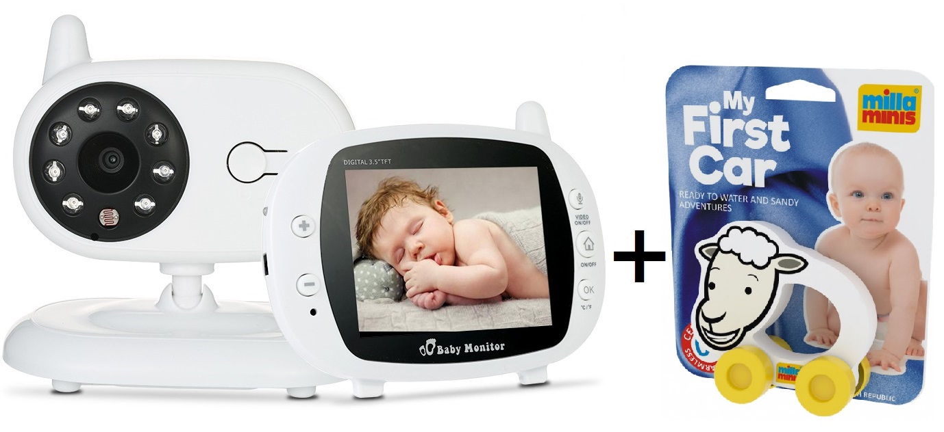 Pachet promo:Baby Monitor Audio Video, Wireless Nanny + Masinuta eccologica, interactiva Caprita 0