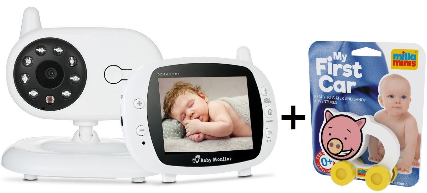 Pachet promo:Baby Monitor Audio Video, Wireless Nanny + Masinuta eccologica, interactiva Porcusor [0]