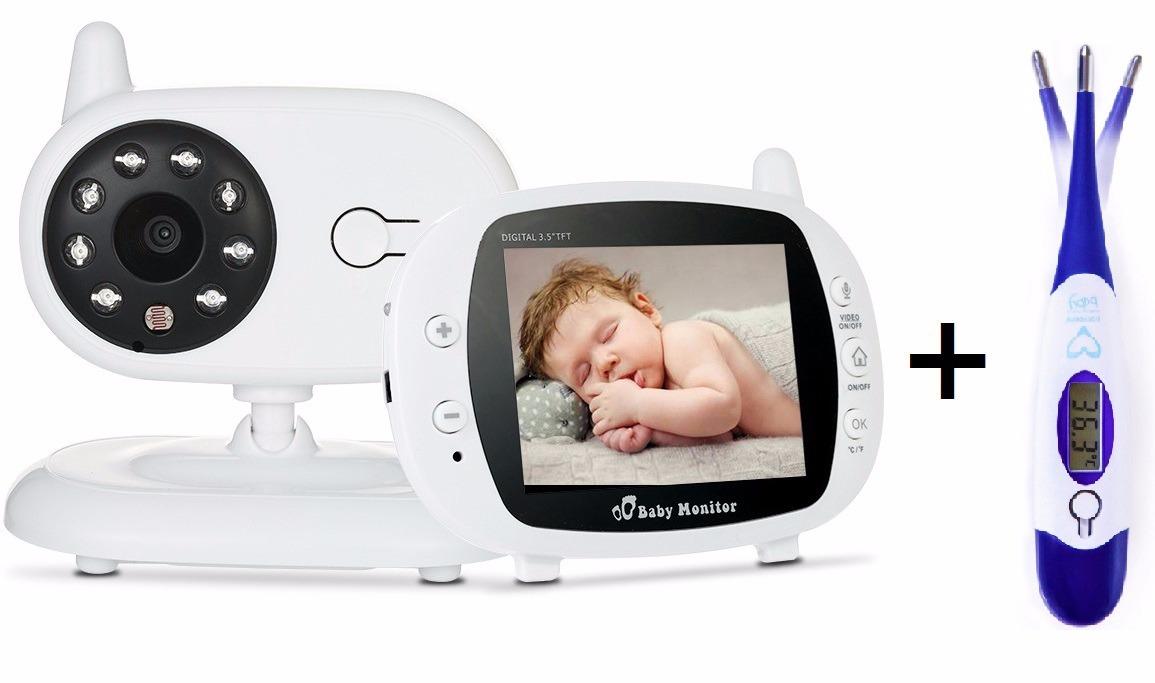Pachet promo:Baby Monitor Audio Video, Wireless Nanny + Termometru digital EASYCARE 0