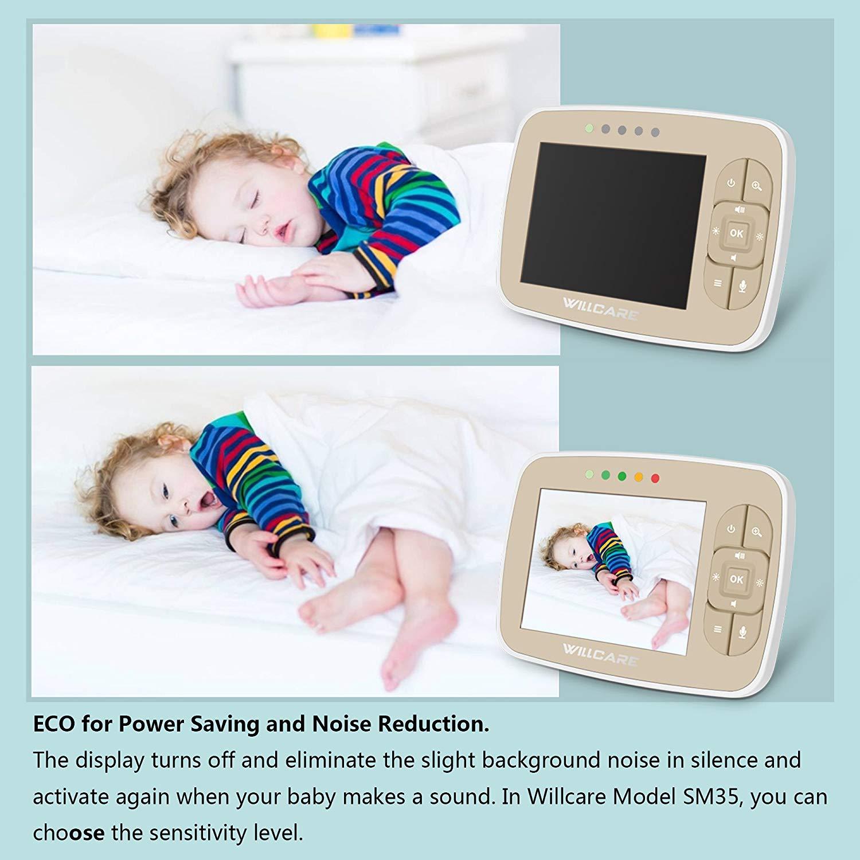 "Monitor Video pentru bebelusi SI-WIlLCARE, night vision, TFT 3,5"",alarma temperatura,300 m ,360⁰ + CADOU 1"