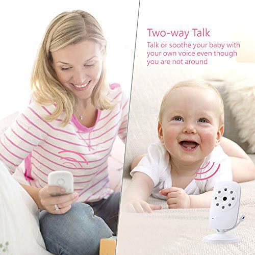 "Monitor Video pentru bebelusi SI-WIlLCARE, night vision, TFT 3,5"",alarma temperatura,300 m ,360⁰ + CADOU 3"