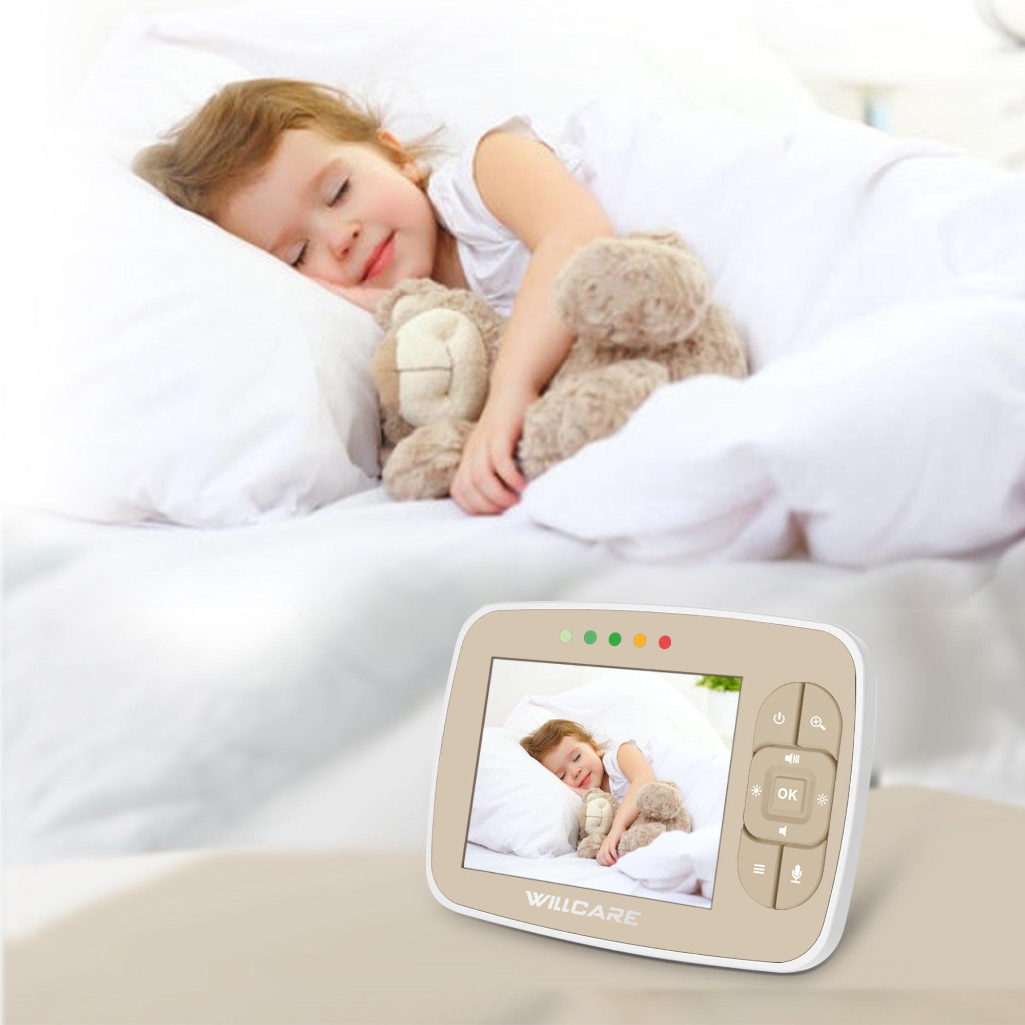 "Monitor Video pentru bebelusi SI-WIlLCARE, night vision, TFT 3,5"",alarma temperatura,300 m ,360⁰ + CADOU 5"