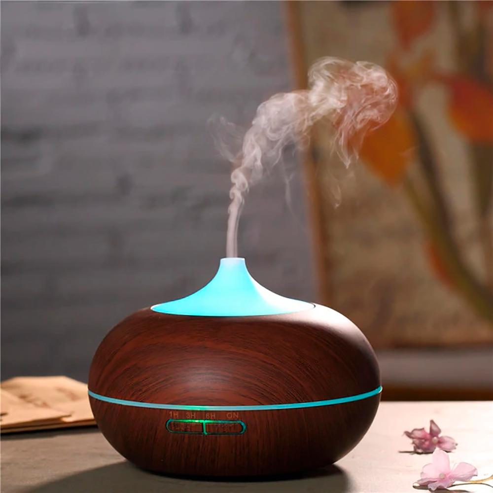 Difuzor aromaterapie, Zenix, GX-12K, 300ml, 16 ore, ultrasonic - Stejar inchis 0