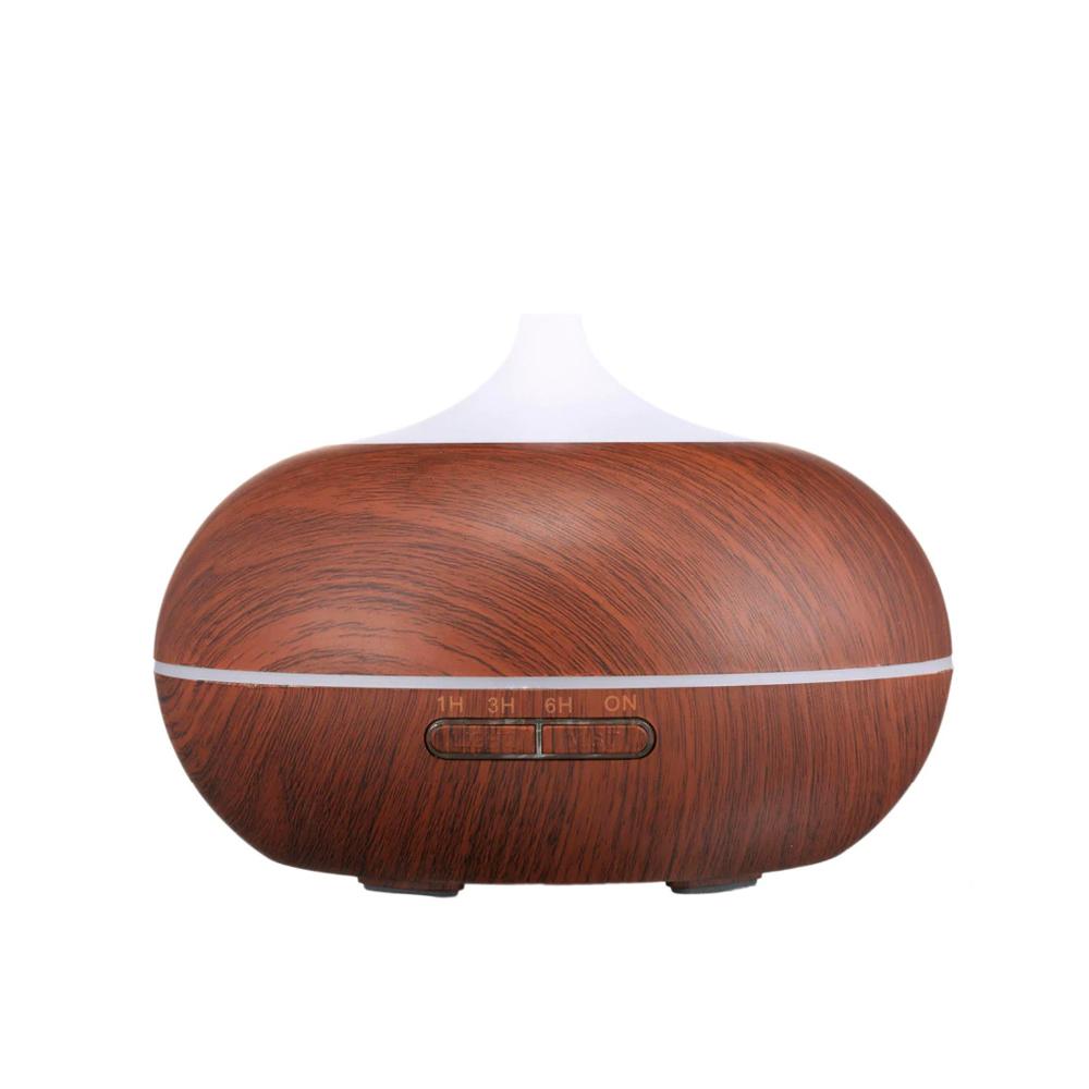 Difuzor aromaterapie, Zenix, GX-12K, 300ml, 16 ore, ultrasonic - Stejar inchis