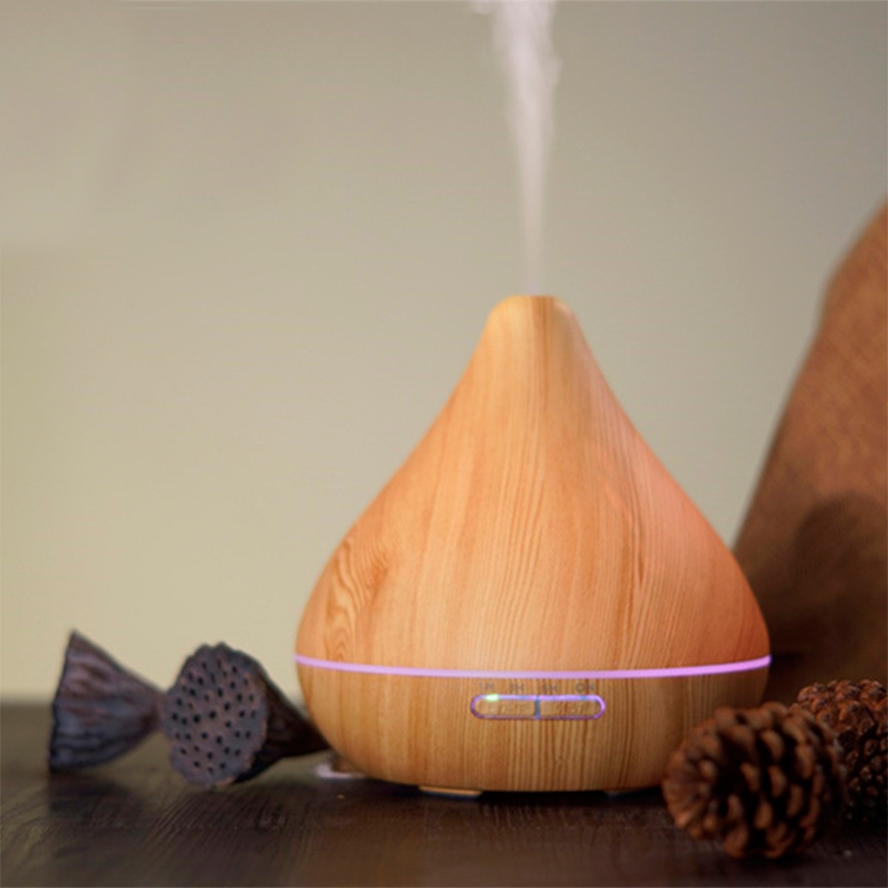 Difuzor aromaterapie, Zenix, GX-13K, 300ml, 16 ore, ultrasonic - Stejar deschis complet 1