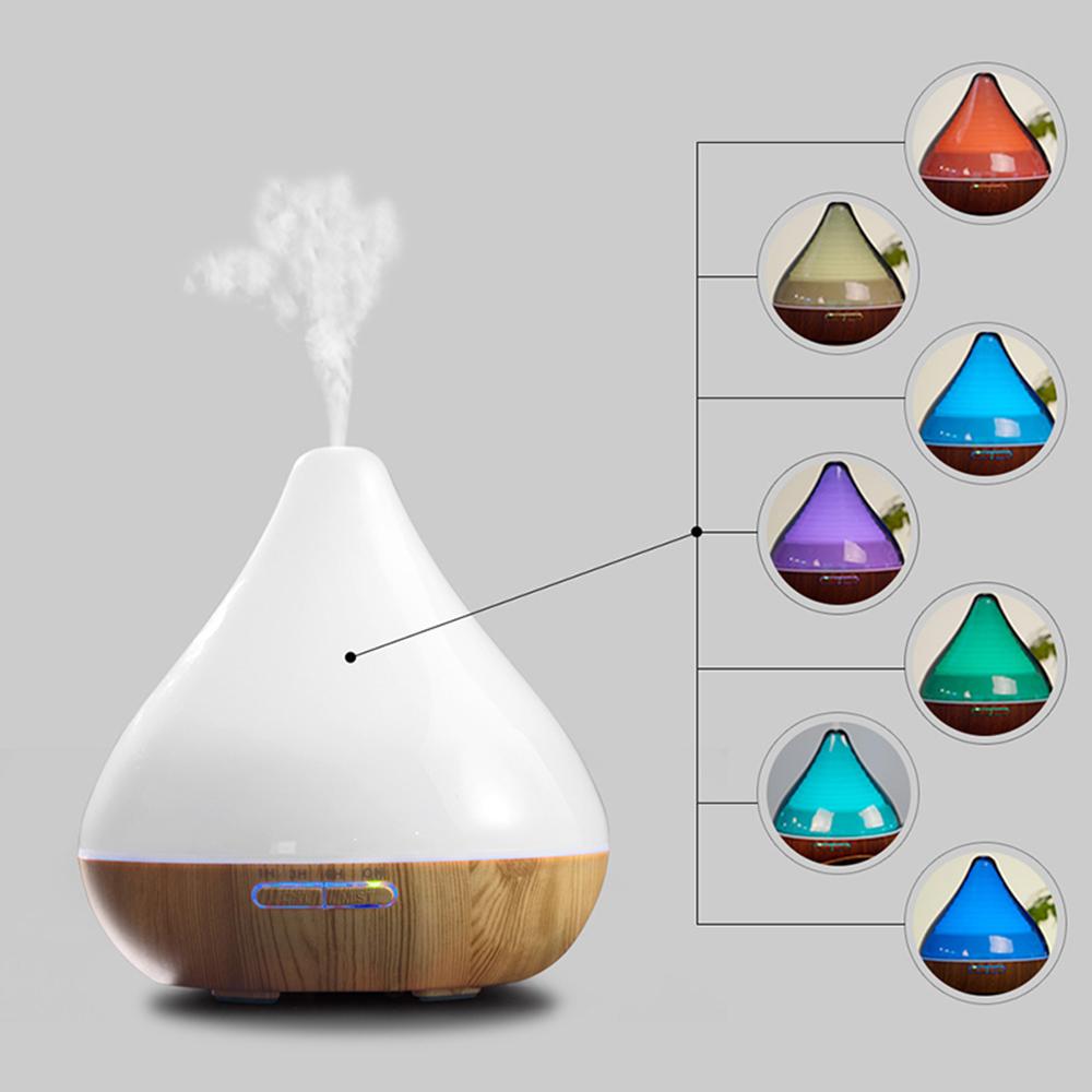 Difuzor aromaterapie, Zenix, GX-13K, 300ml, 16 ore, ultrasonic - Stejar deschis + Alb 5
