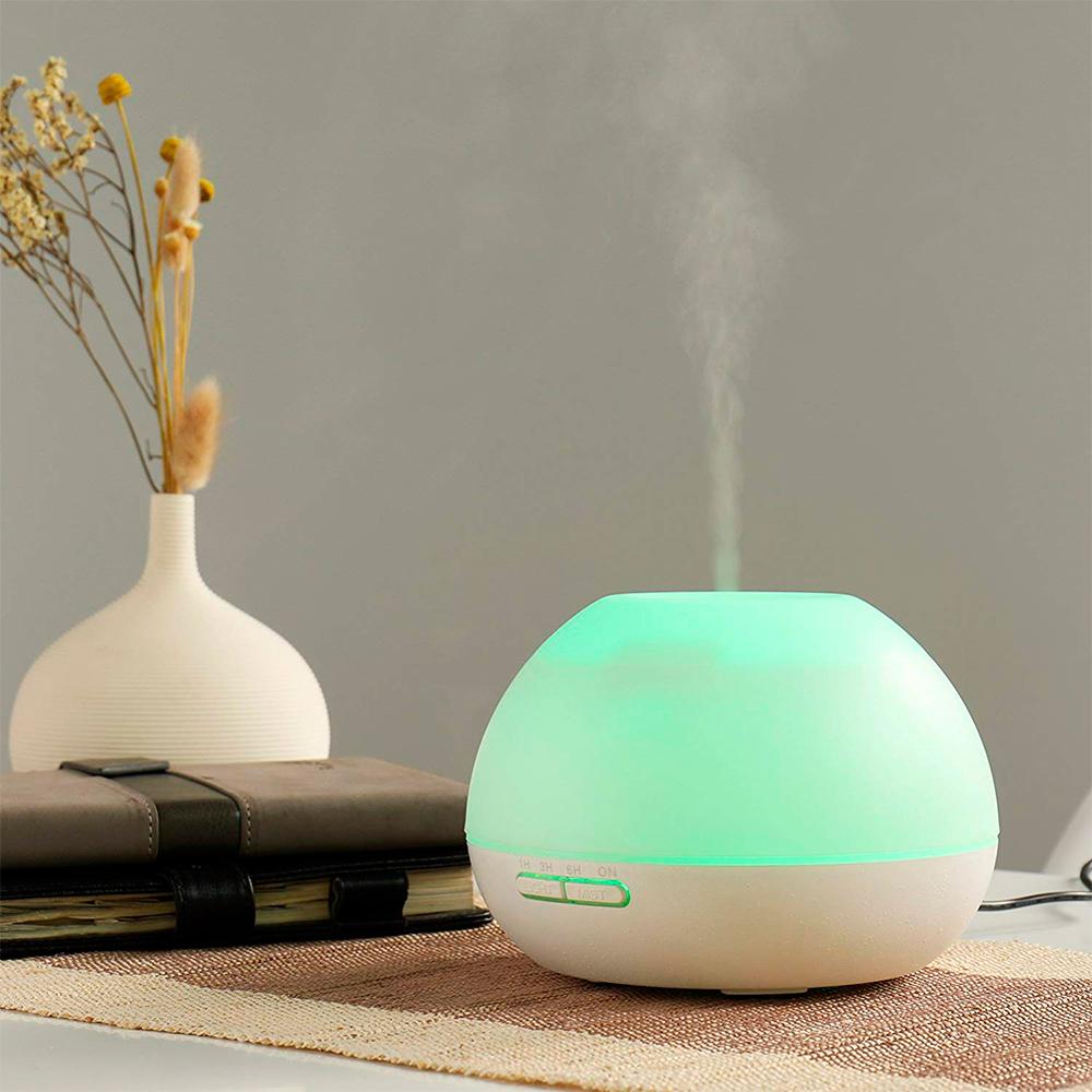 Difuzor aromaterapie, Zenix, GX-19K, 300ml, 16 ore, ultrasonic - Alb 1