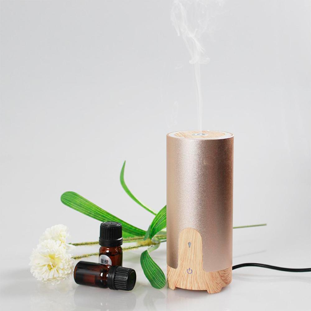Difuzor aromaterapie MASINA / BIROU, Zenix, GX-B02, 50ml, 4 - 8 ore, ultrasonic - Stejar deschis + Auriu 5