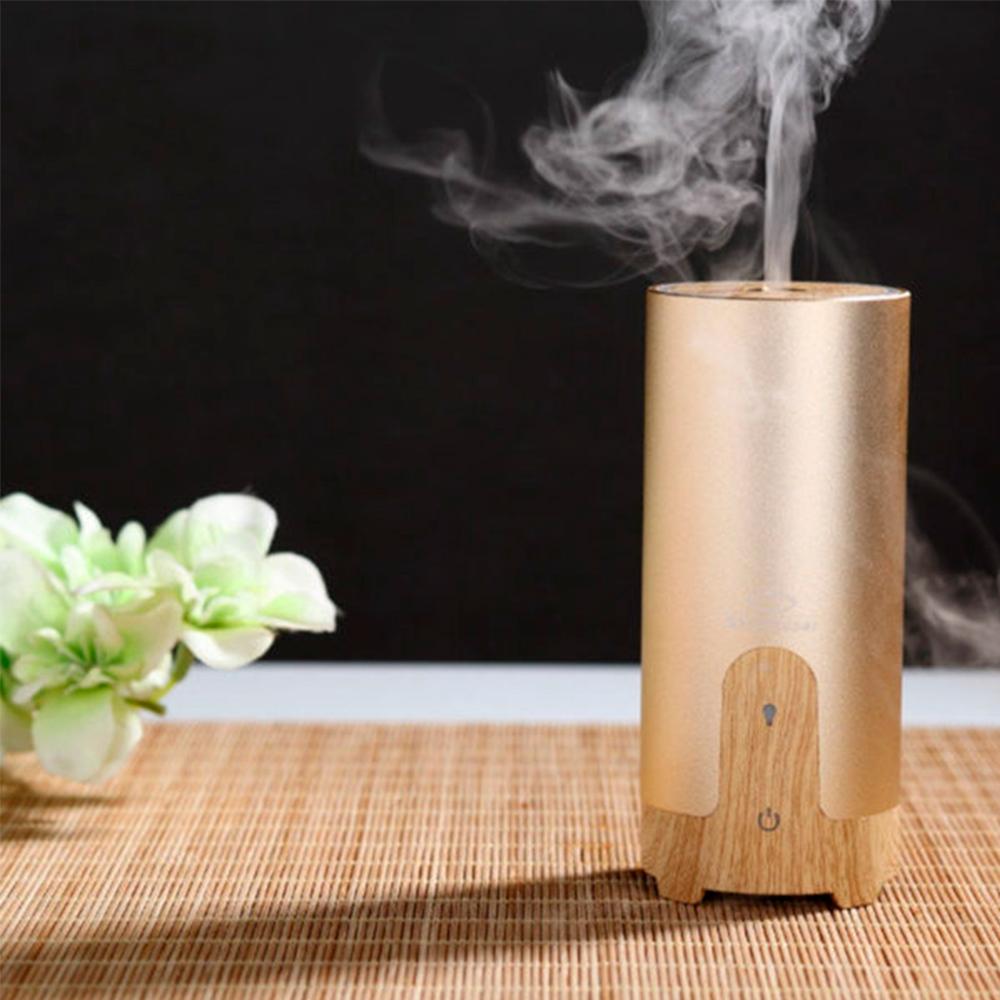 Difuzor aromaterapie MASINA / BIROU, Zenix, GX-B02, 50ml, 4 - 8 ore, ultrasonic - Stejar deschis + Auriu 6