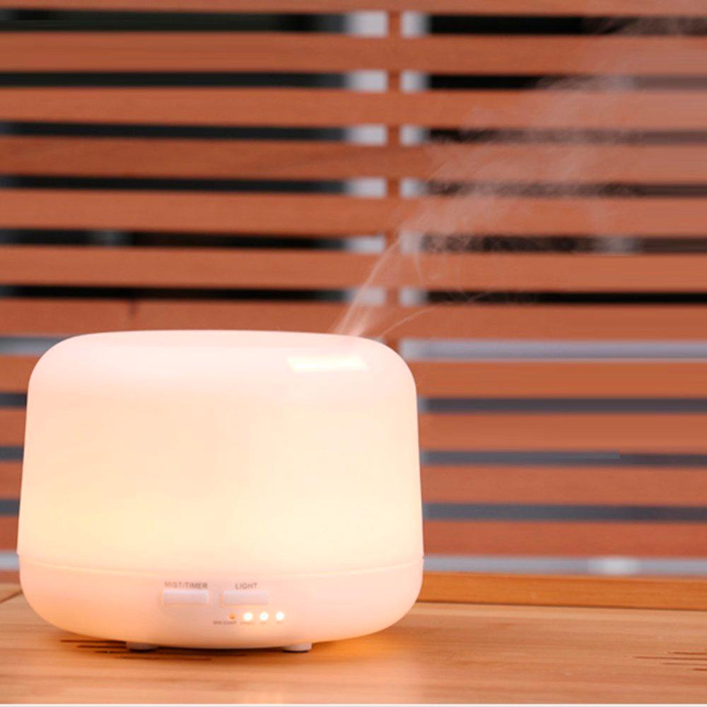 Difuzor aromaterapie, Zenix - Apollo, 300ml, 16 ore, ultrasonic, telecomanda - Alb