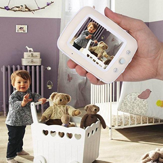 Baby Monitor Audio - Video pentru bebelusi, model 2018, TI-GMCAM 35Q, WI-FI 2,4Ghz, Talk-Back, Activare Vocala, Cantece Leagan incorporate [1]
