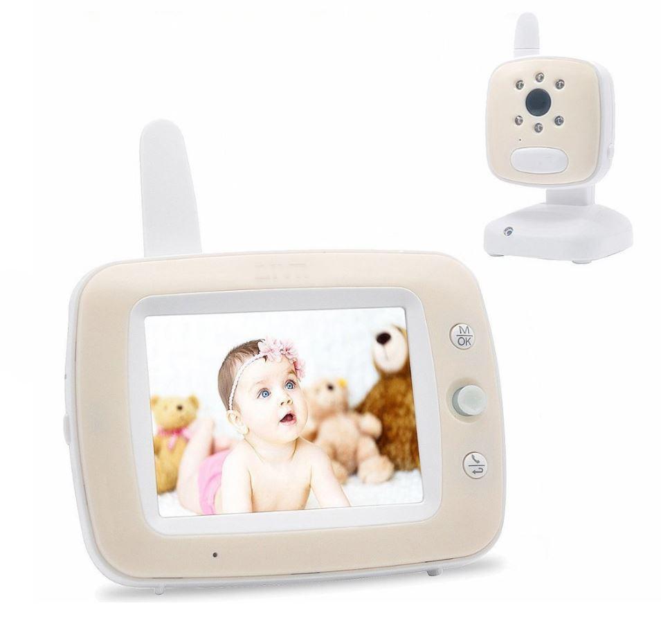 Baby Monitor Audio - Video pentru bebelusi, model 2018, TI-GMCAM 35Q, WI-FI 2,4Ghz, Talk-Back, Activare Vocala, Cantece Leagan incorporate [0]