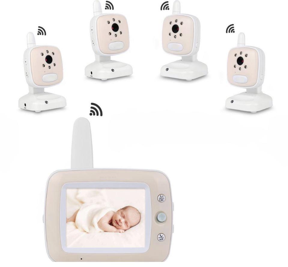 Baby Monitor Audio - Video pentru bebelusi, model 2018, TI-GMCAM 35Q, WI-FI 2,4Ghz, Talk-Back, Activare Vocala, Cantece Leagan incorporate [2]