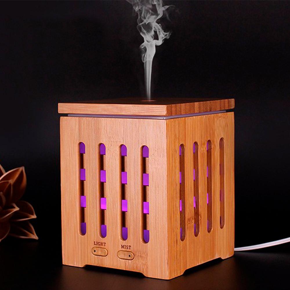 Difuzor aromaterapie, Zenix, Dionis, 200ml, 10 ore, ultrasonic - Bambus 0