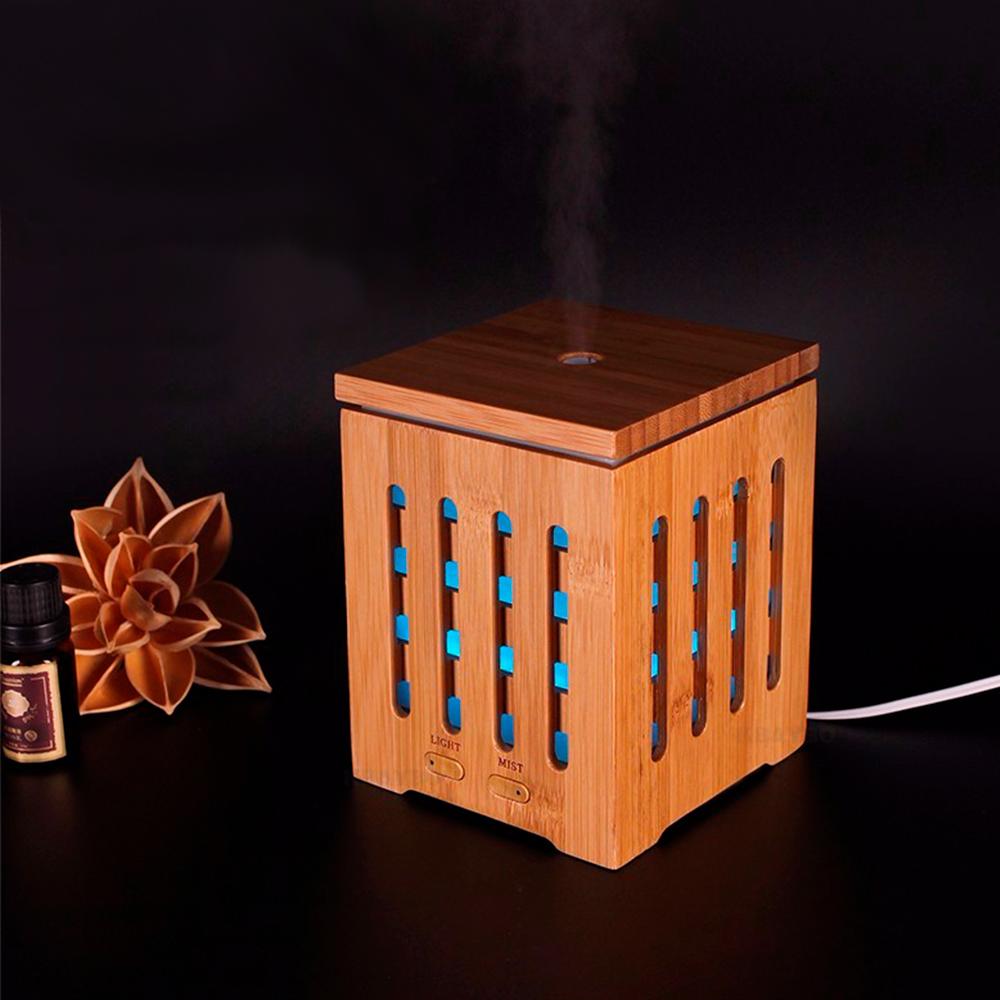 Difuzor aromaterapie, Zenix, Dionis, 200ml, 10 ore, ultrasonic - Bambus 1