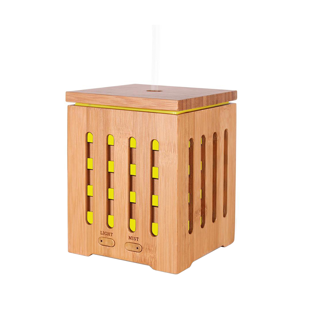 Difuzor aromaterapie, Zenix, Dionis, 200ml, 10 ore, ultrasonic - Bambus 2