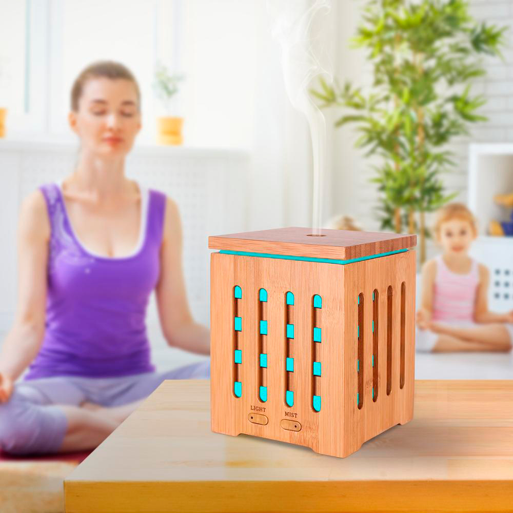 Difuzor aromaterapie, Zenix, Dionis, 200ml, 10 ore, ultrasonic - Bambus 6