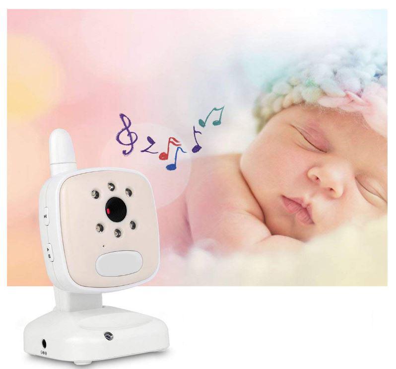 Baby Monitor Audio - Video pentru bebelusi, model 2018, TI-GMCAM 35Q, WI-FI 2,4Ghz, Talk-Back, Activare Vocala, Cantece Leagan incorporate [4]