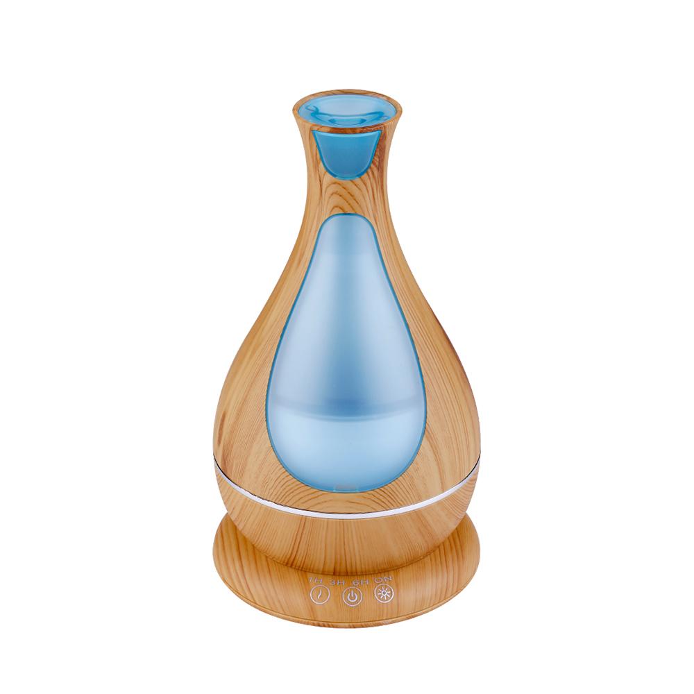 Difuzor aromaterapie, Zenix, Poseidon, 400ml, 18 ore, ultrasonic - Stejar deschis 1