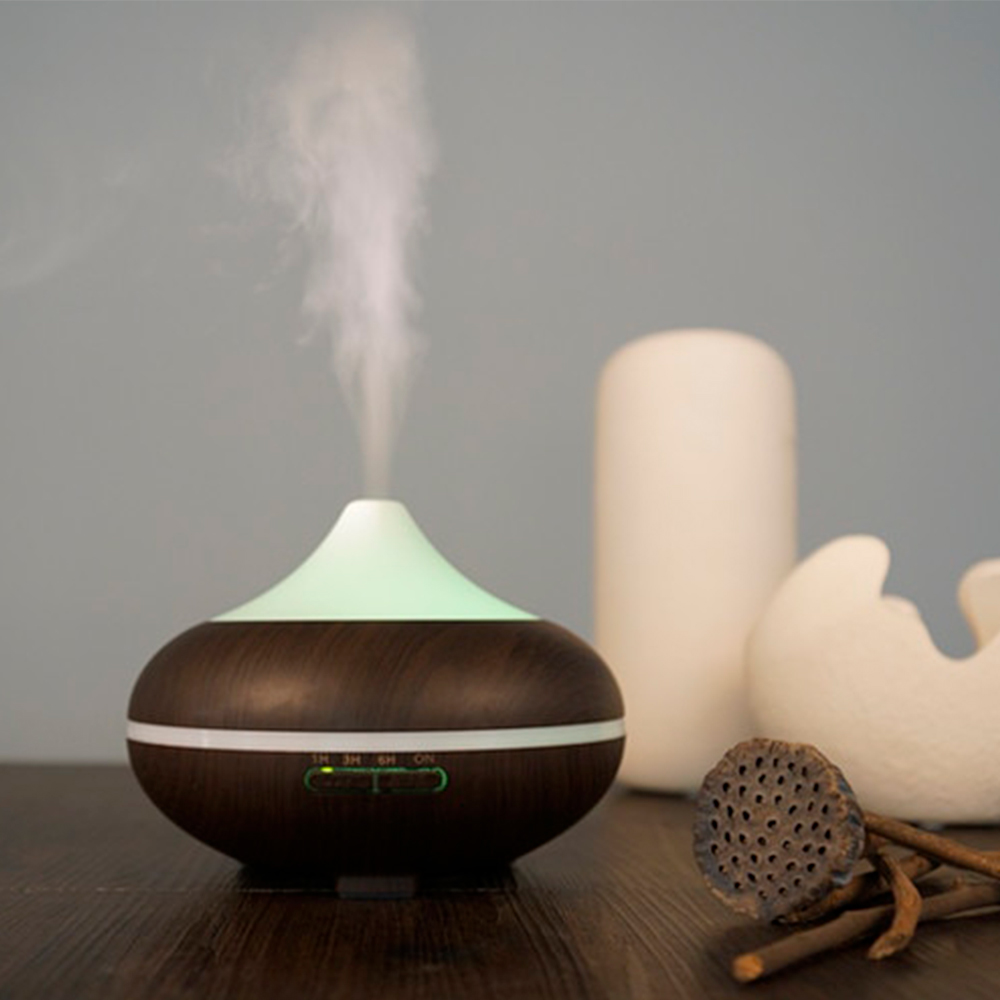 Difuzor aromaterapie, Zenix, GX-20K, 500ml, 20+ ore, ultrasonic - Stejar inchis 0