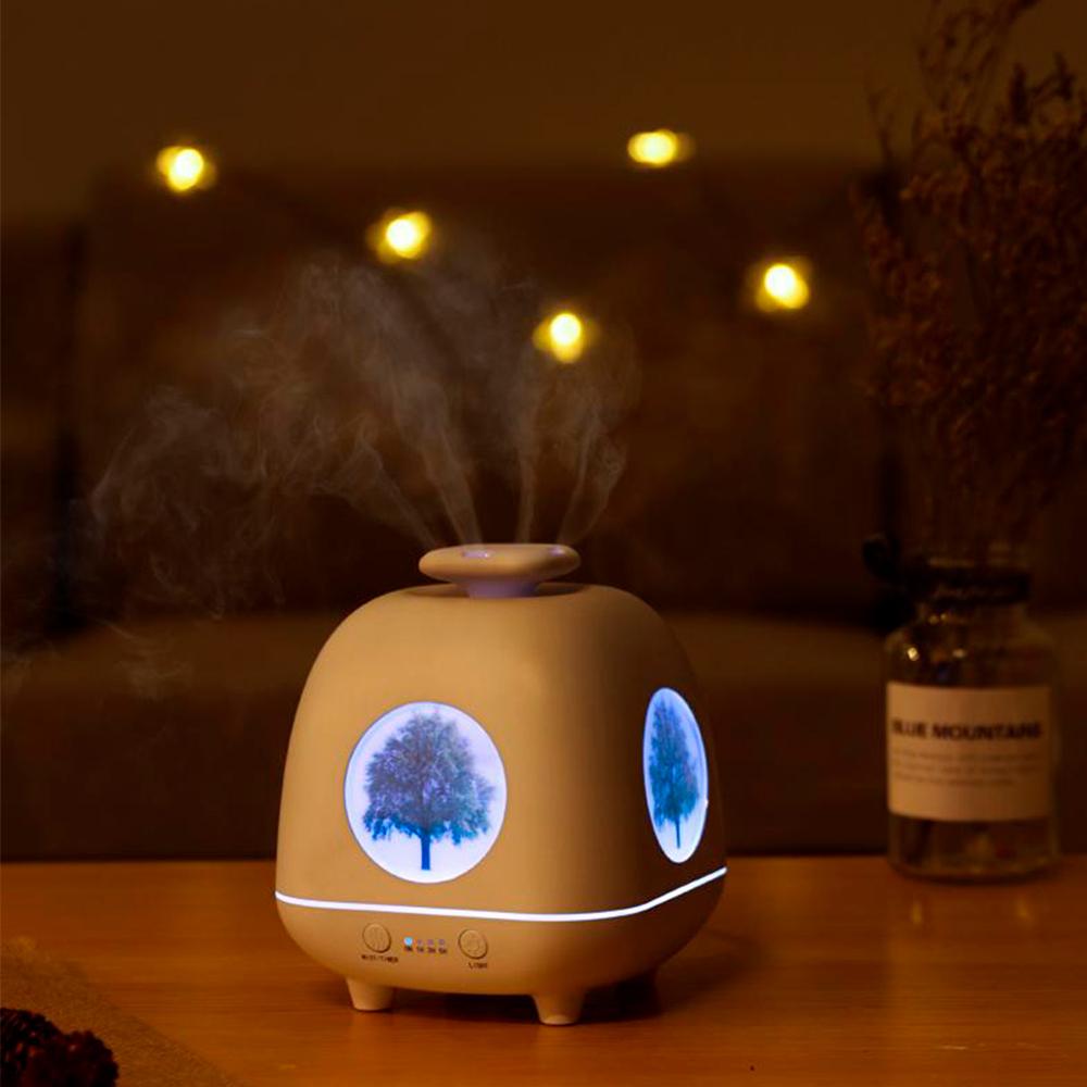 Difuzor aromaterapie, Zenix, Yggdrasil, 230ml, 9 ore, ultrasonic - Alb 3