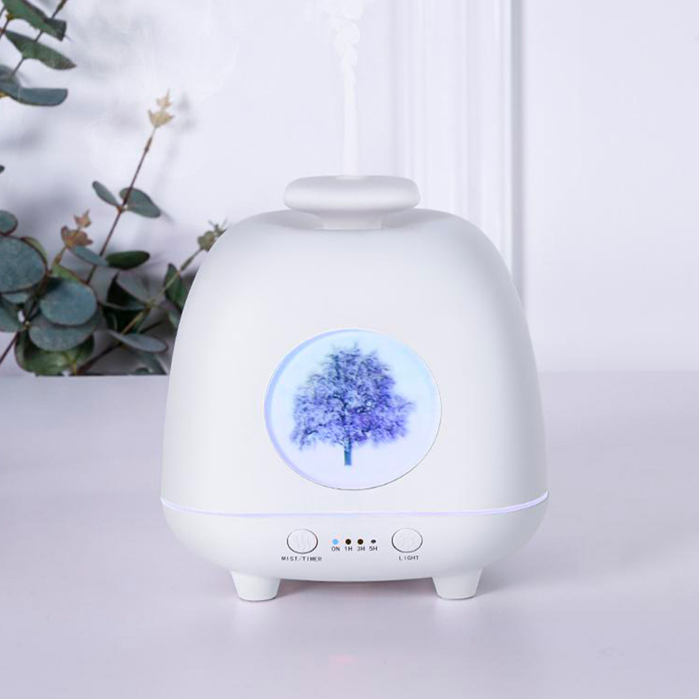 Difuzor aromaterapie, Zenix, Yggdrasil, 230ml, 9 ore, ultrasonic - Alb 10