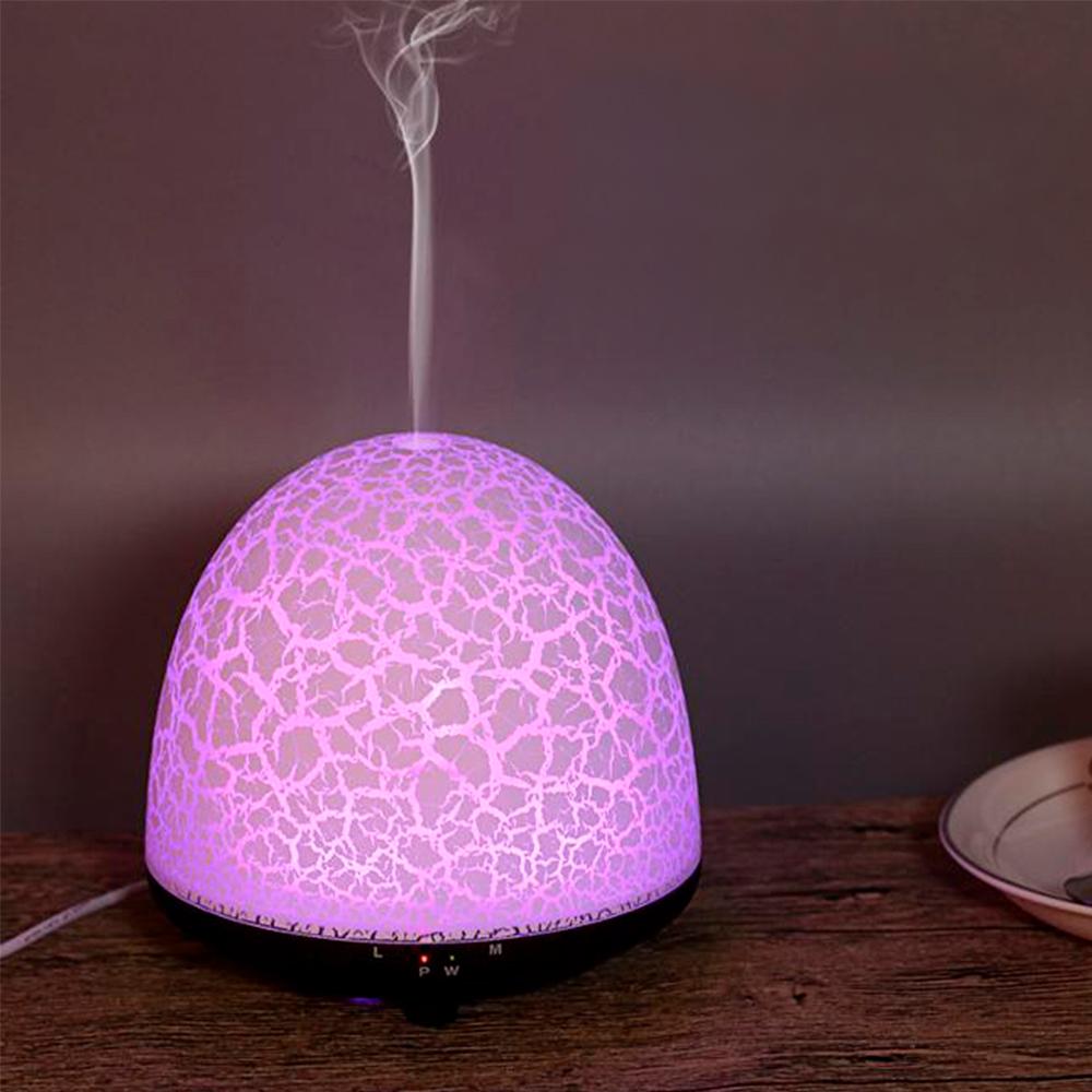 Difuzor aromaterapie, Zenix, Phoenix, 100ml, 5-7 ore, ultrasonic - Stejar inchis + Alb 1