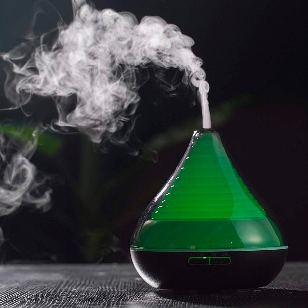 Difuzor aromaterapie, Zenix, GX-13K, 300ml, 16 ore, ultrasonic - Negru perlat 4
