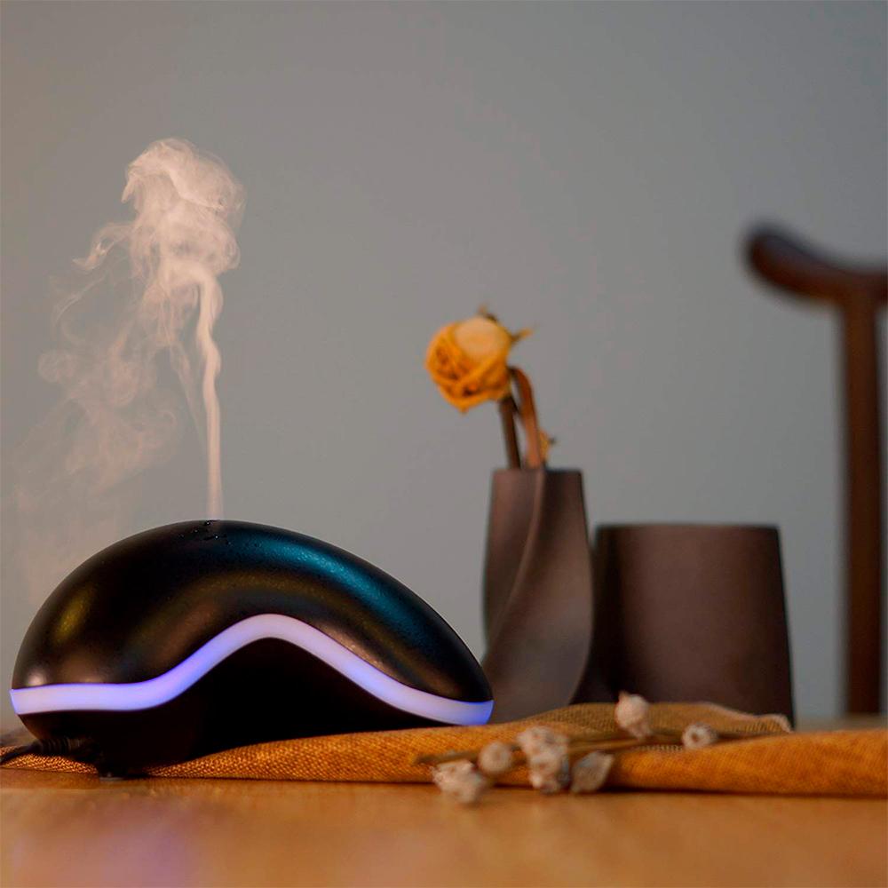Difuzor aromaterapie, Zenix, GX-14K, 150ml, 8 ore, ultrasonic - Negru