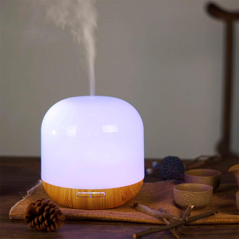 Difuzor aromaterapie, Zenix, GX-11K, 300ml, 16 ore, ultrasonic - Stejar deschis