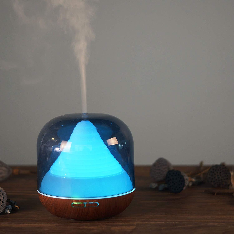 Difuzor aromaterapie, Zenix, GX-11K, 300ml, 16 ore, ultrasonic - Stejar inchis 1