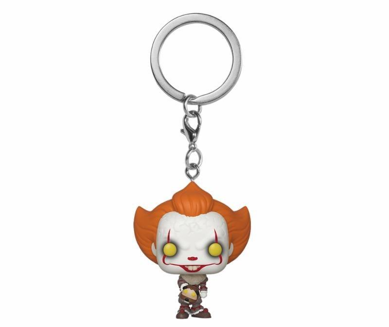 Breloc Funko Pocket POP! IT Chapter 2 - Pennywise with Beaver Hat Vinyl Figure 1