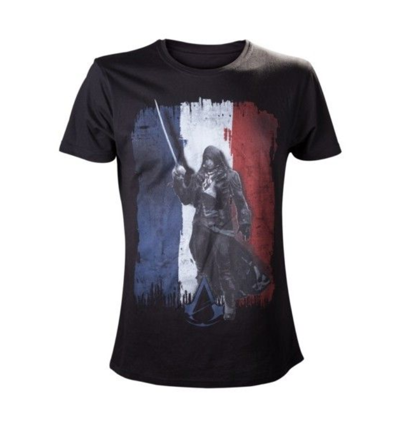 Tricou Assassin's Creed Flag Tricolore Negru L 0