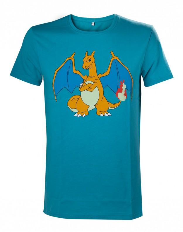 Tricou Pokemon Charizard Turquoise L 0