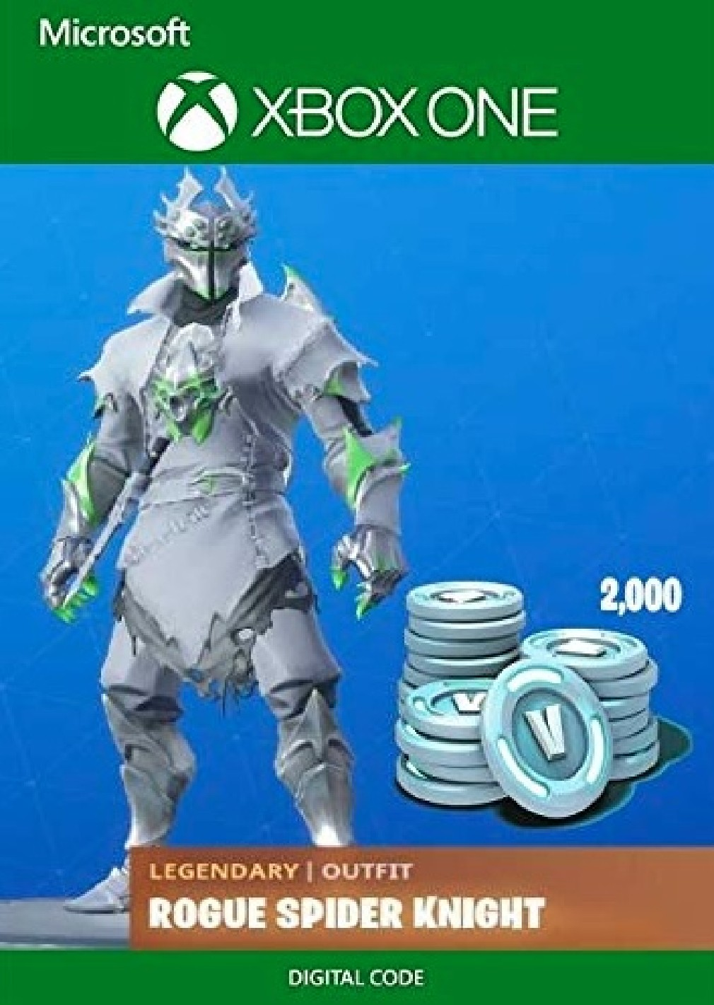Joc Fortnite Legendary Rogue Spider Knight Outfit + 2000 V-Bucks Bundle (Xbox One) Digital DLC 0