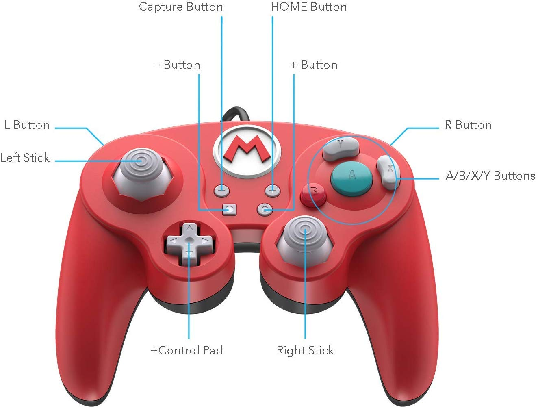 Controller cu Fir Nintendo Super Mario Smash Pad Pro Rosu pentru Nintendo Switch 2