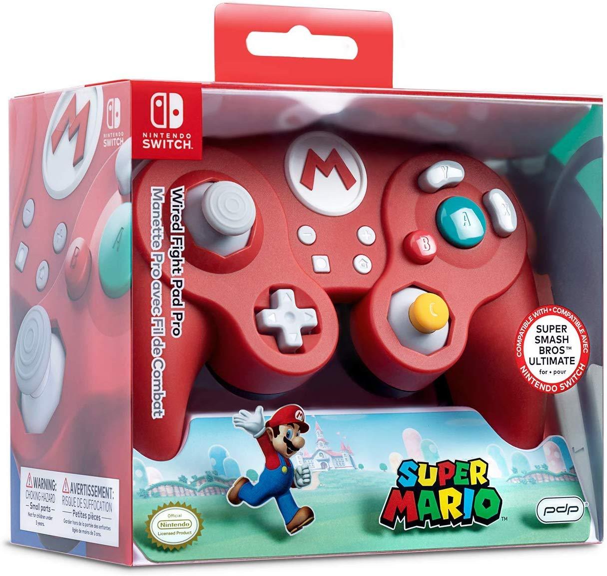 Controller cu Fir Nintendo Super Mario Smash Pad Pro Rosu pentru Nintendo Switch 4