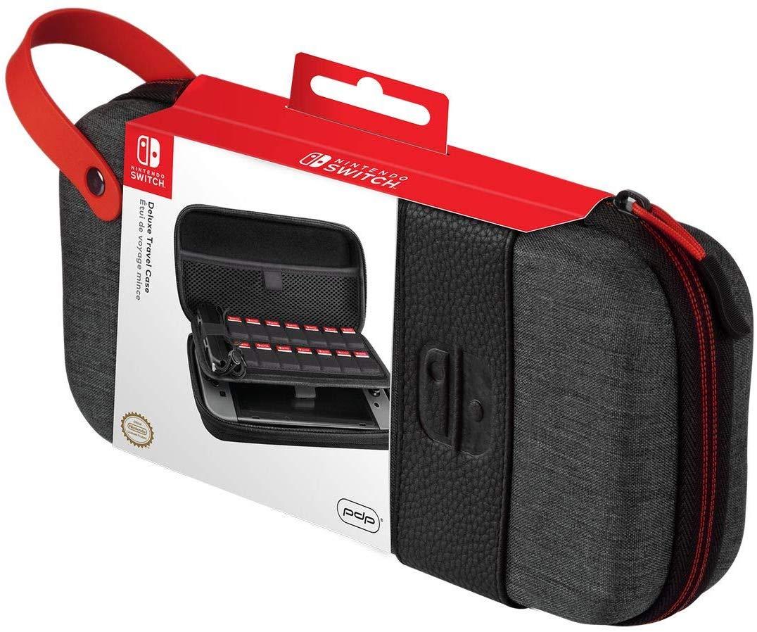 Carcasa Protectie Official Switch Deluxe Travel Case Elite Edition Gri pentru Nintendo Switch 4