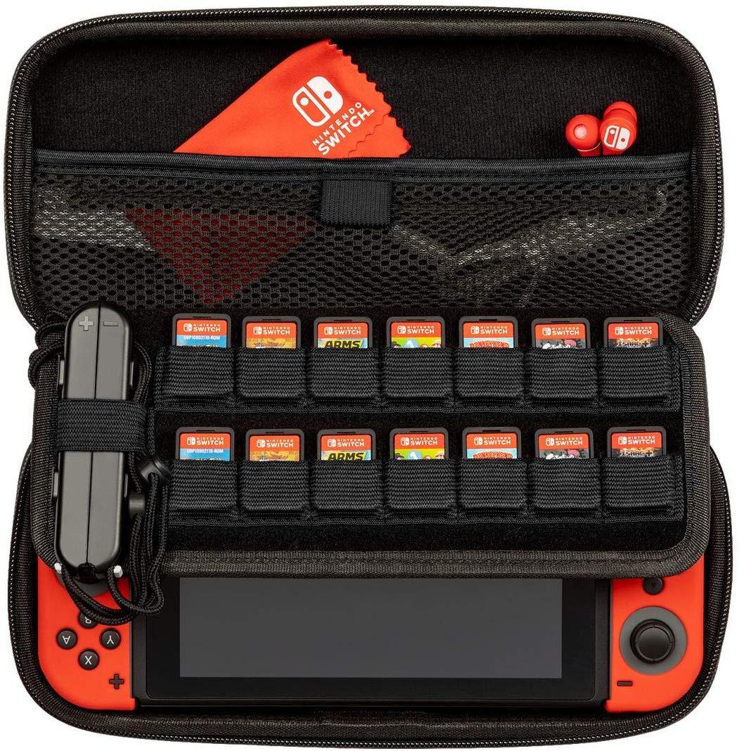 Carcasa Protectie Official Switch Deluxe Travel Case Elite Edition Gri pentru Nintendo Switch 5