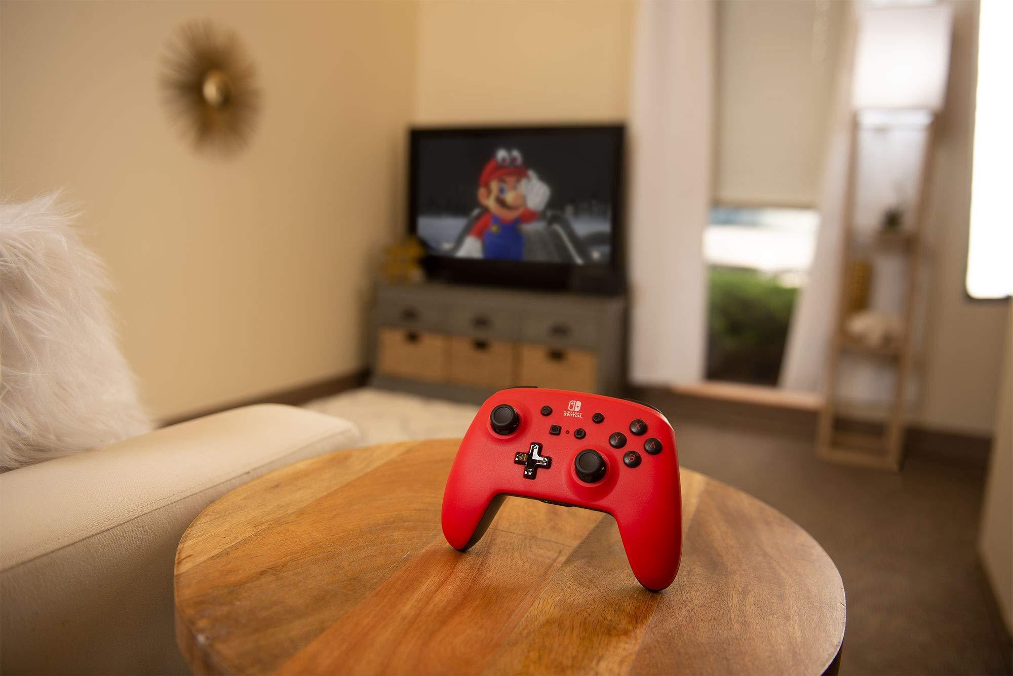 Controller Enhanced Wireless Switch Rosu cu Negru  pentru Nintendo Switch 3