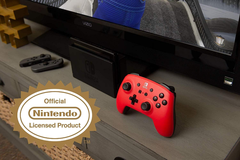 Controller Enhanced Wireless Switch Rosu cu Negru  pentru Nintendo Switch 4