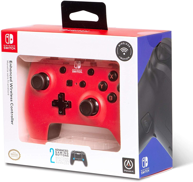 Controller Enhanced Wireless Switch Rosu cu Negru  pentru Nintendo Switch 5