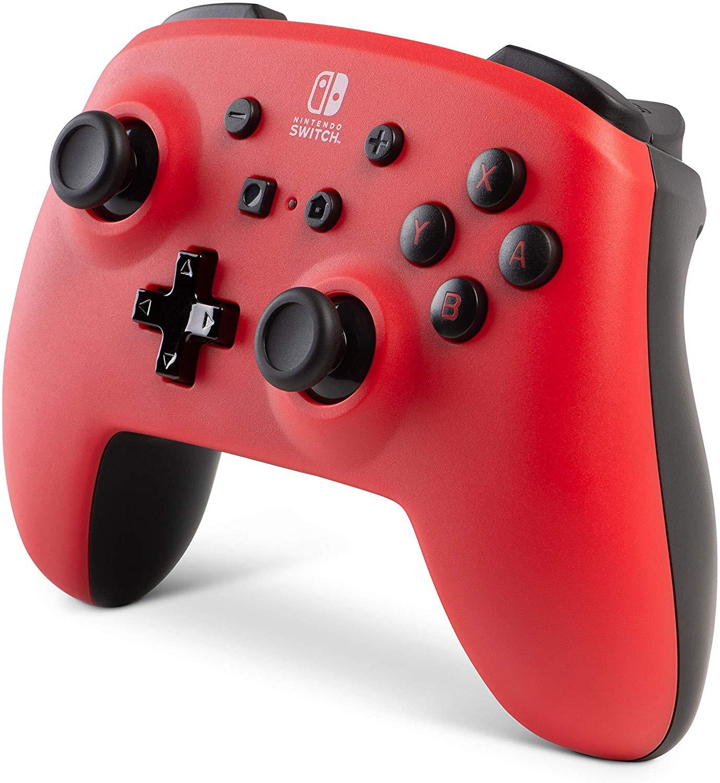 Controller Enhanced Wireless Switch Rosu cu Negru  pentru Nintendo Switch 6