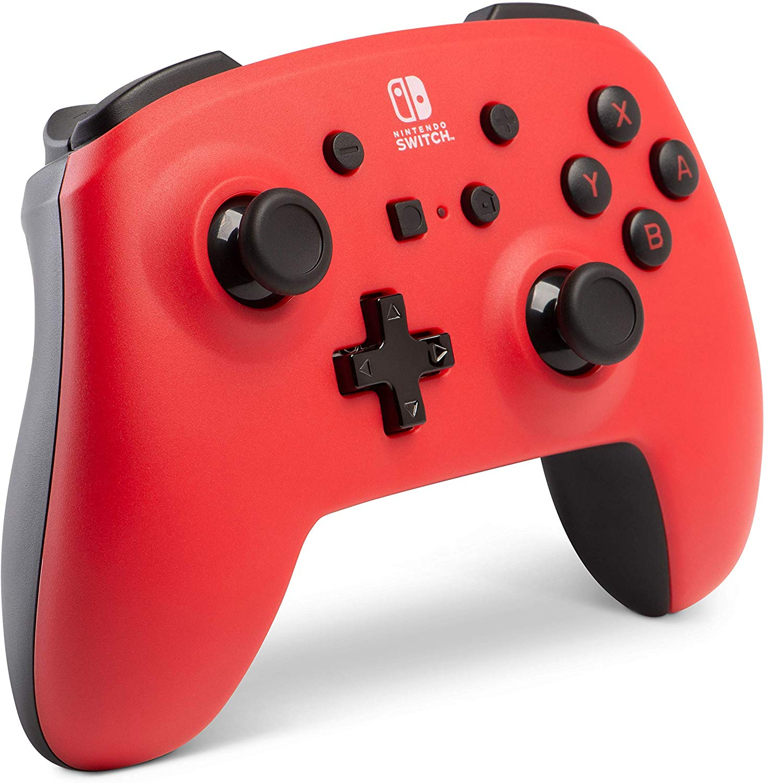 Controller Enhanced Wireless Switch Rosu cu Negru  pentru Nintendo Switch 7