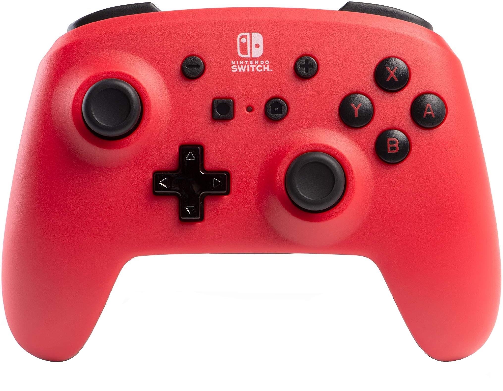 Controller Enhanced Wireless Switch Rosu cu Negru  pentru Nintendo Switch 0