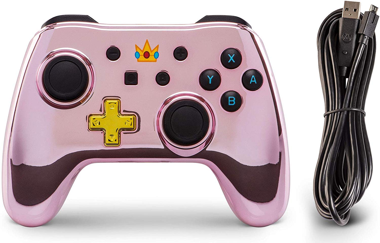 Controller Wired Switch Chrome Princess Peach pentru Nintendo Switch 3