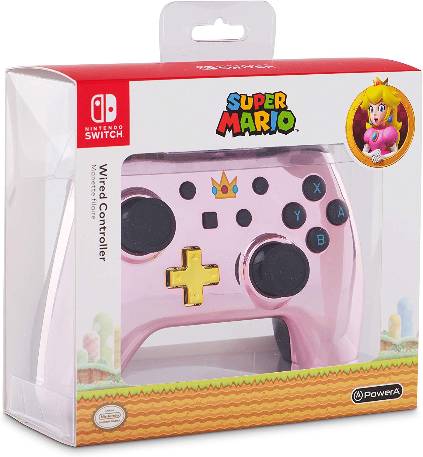 Controller Wired Switch Chrome Princess Peach pentru Nintendo Switch 5
