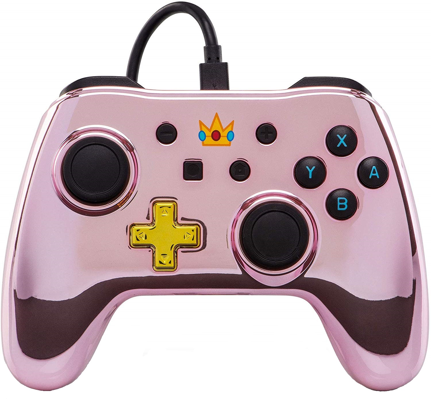 Controller Wired Switch Chrome Princess Peach pentru Nintendo Switch 0