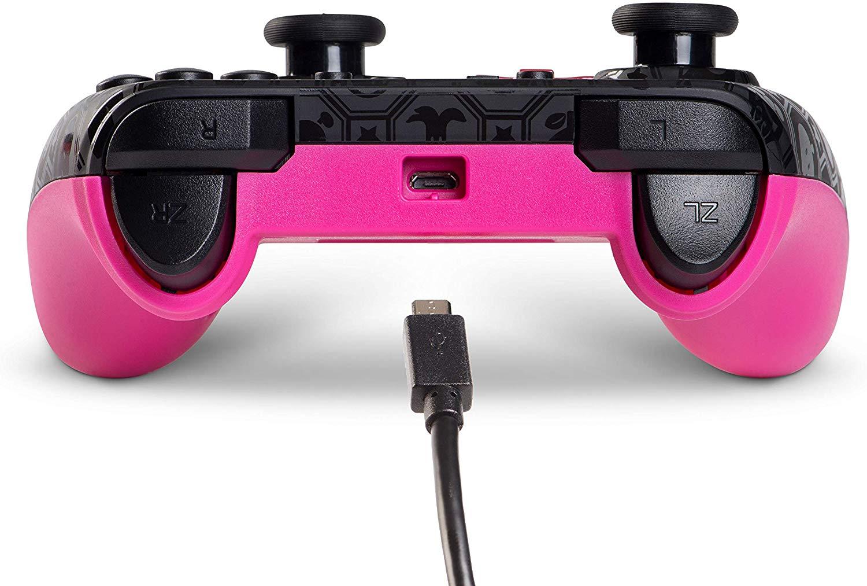 Controller cu Fir Shadow Peach Negru cu Roz pentru Nintendo Switch 7